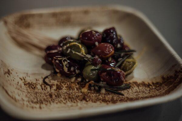 Kalamata & Castelvetrano Olives, Rosemary, Garlic Confit, Citrus