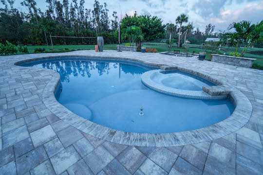 Marco Island Paver Patio and Firepit