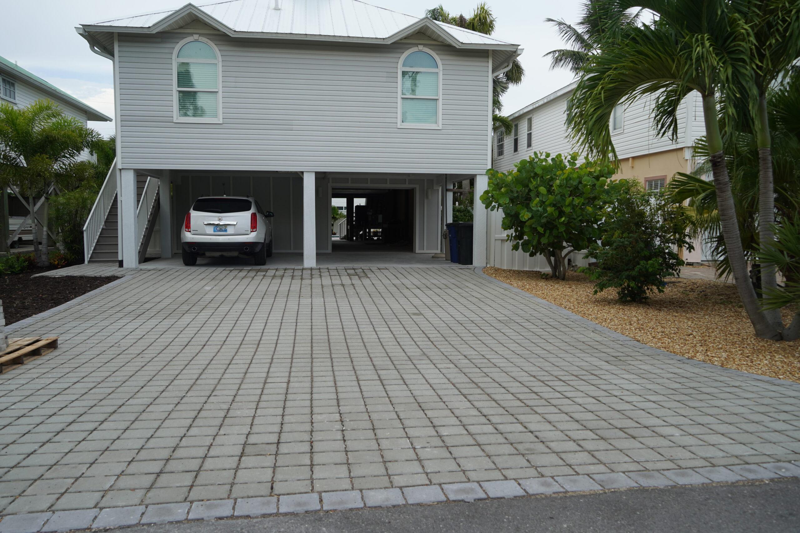 Beach Driveway Paver Installation B