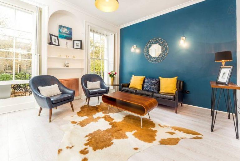modern flat on garden square airbnb london