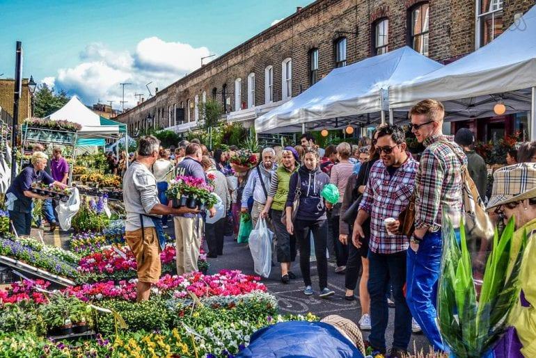 airbnb rental by flower market london