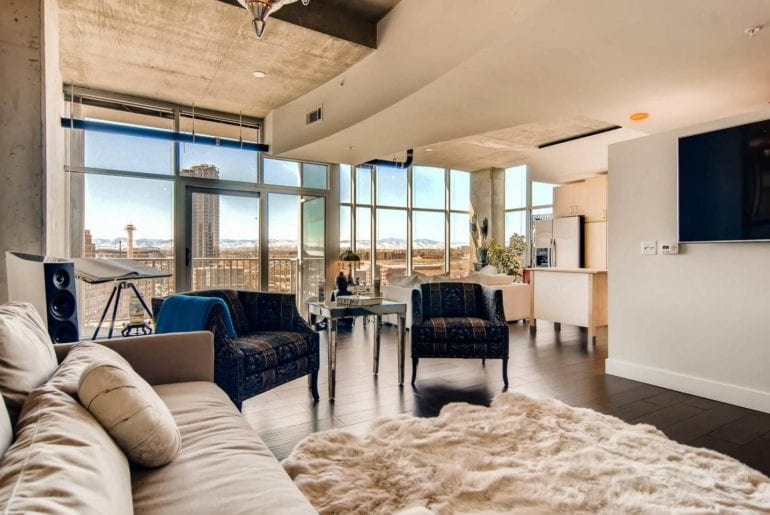 high rise airbnb loft in downtown denver