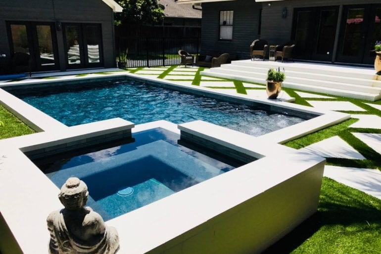 airbnb guesthouse with pool in montrose Houston