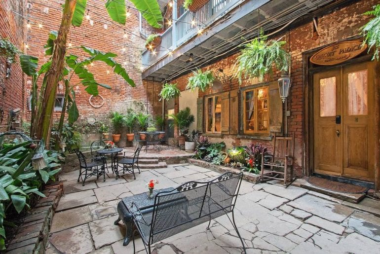 Airbnb New Orleans French Quarter This 200-year old home has a wonderful courtyard to enjoy your morning coffee