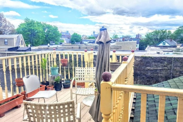 harvard summer school Private deck, attached to bedroom