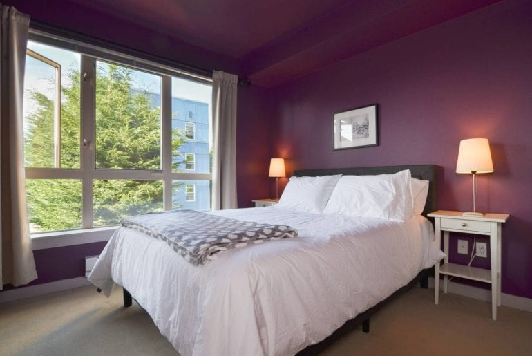 Seattle Comic Con Spacious bedroom with bright, natural light and plush bed