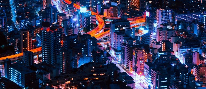 Tokyo At Night Time lapse