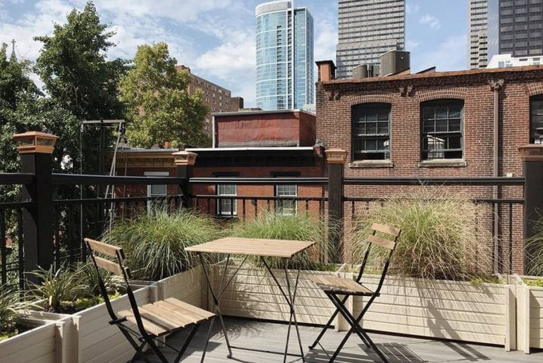 rittenhouse studio with private deck Philadelphia airbnb