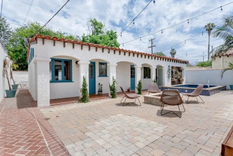 spanish style airbnb studio guest house long beach