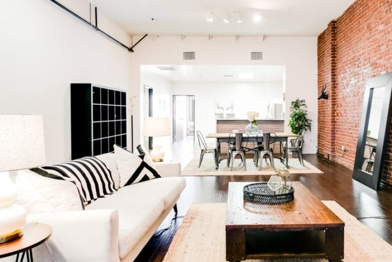 urban industrial airbnb loft in dtla