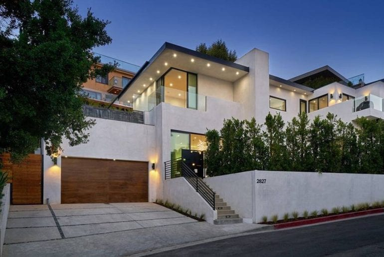 airbnb estate home with lamborghini hollywood hills