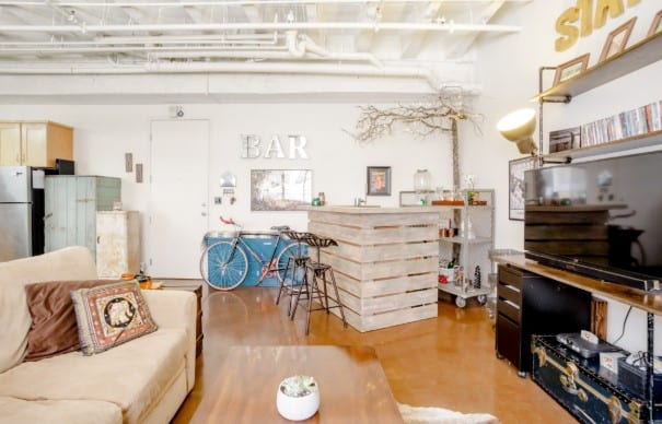 downtown la airbnb artists loft with hottub