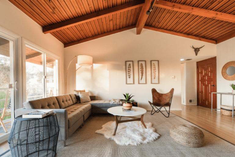 mid century airbnb los angeles bungalow