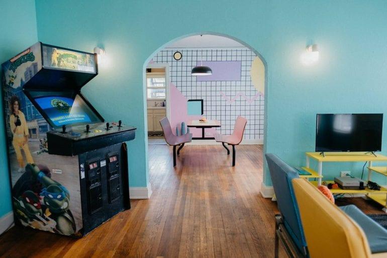 airbnb retro 80s style home airbnb dallas