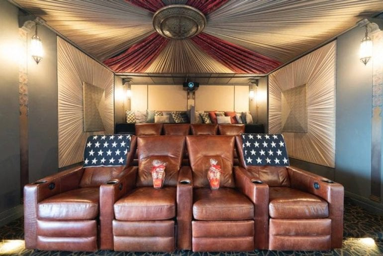 los angeles airbnb home with recording studio and theater