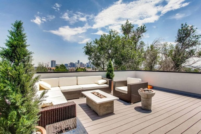airbnb highlands towhome with rooftop deck in denver