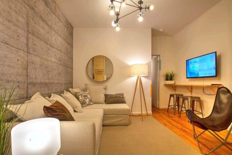 designer airbnb hells kitchen apartment new york
