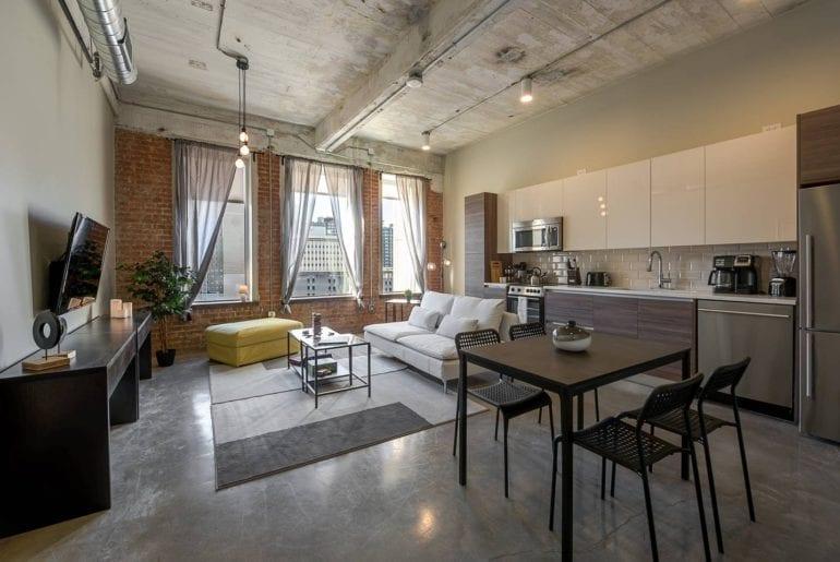 industrial style condo airbnb dallas