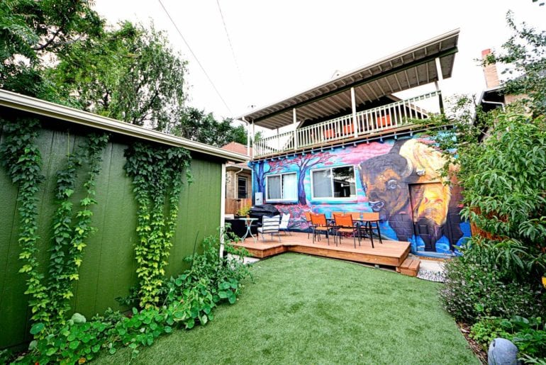 family airbnb home with murals denver