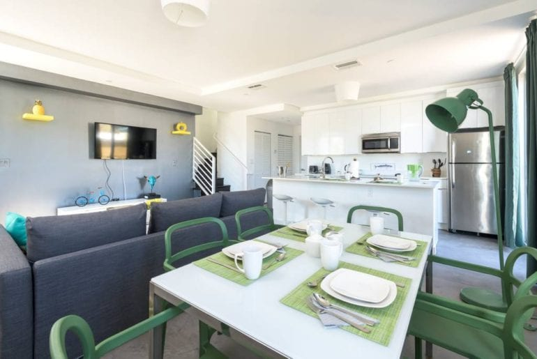 colorful south beach apartment airbnb miami