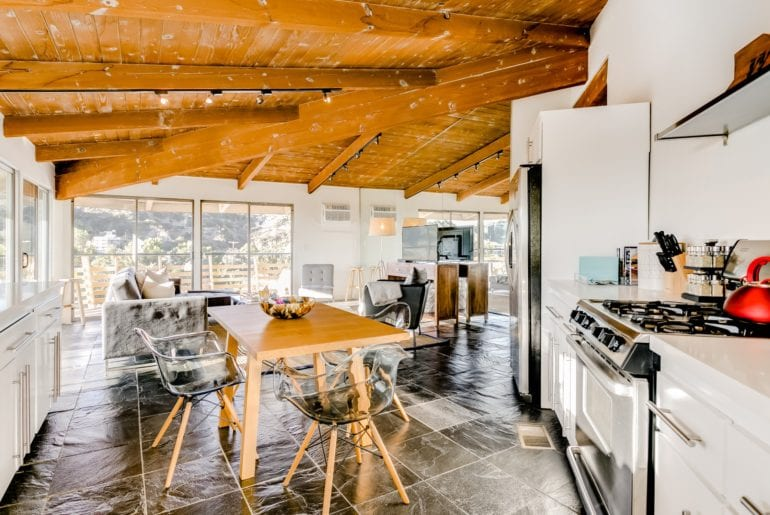Where to stay in Los Angeles: the modern style of this home makes it feel as though you're living like a local celebrity