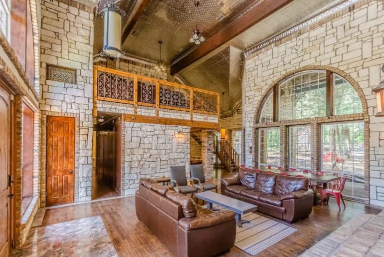 castle style mansion dallas airbnb