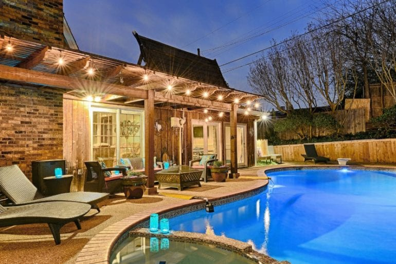 upscale dallas pool home airbnb