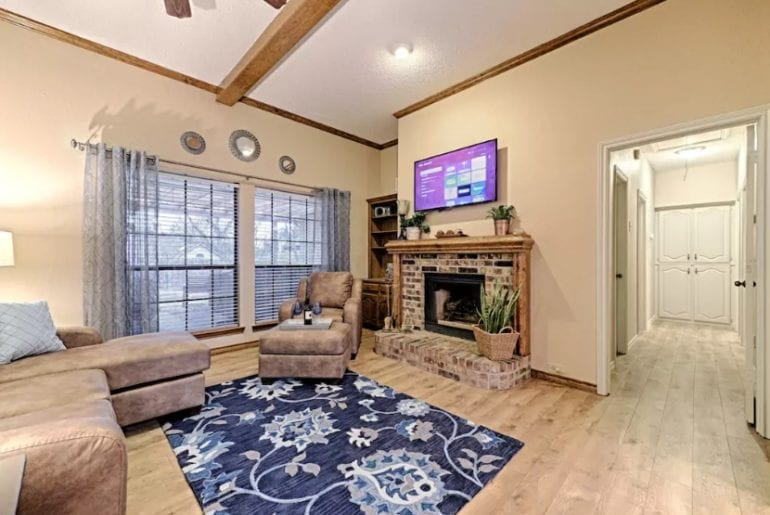 large dallas airbnb home