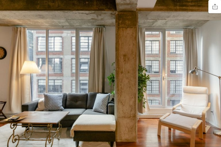 stylish loft old town montreal airbnb