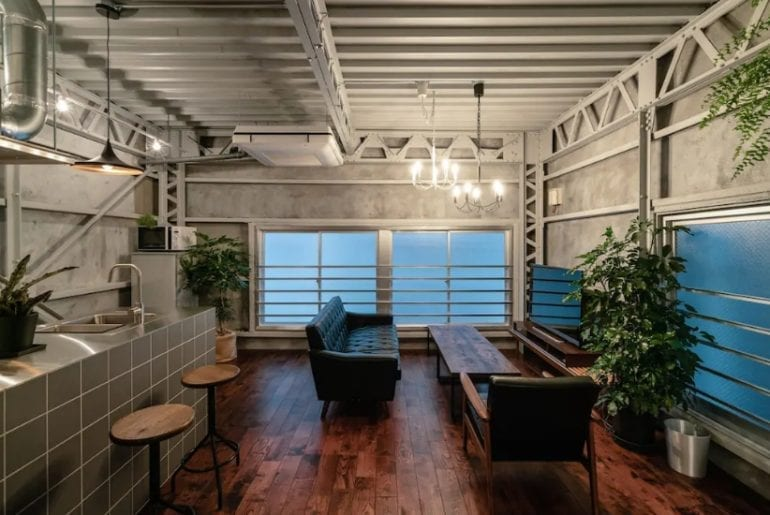 modern industrial home airbnb tokyo