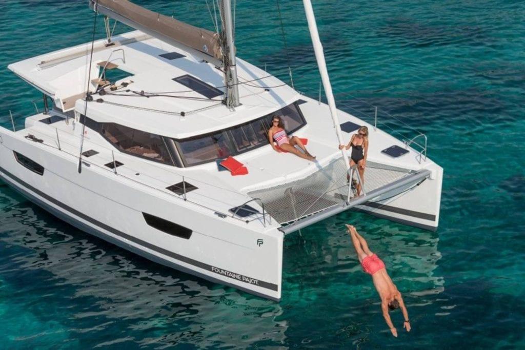Catamaran three-bedroom yacht on the Key West waters