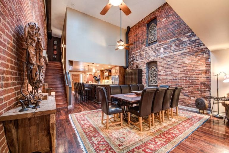Gorgeous exposed brick in this NOLA influenced apartment