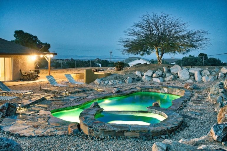 joshua tree oasis with saltwater pool and spa airbnb