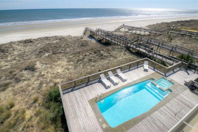 a beachfront pool in Myrtle Beach