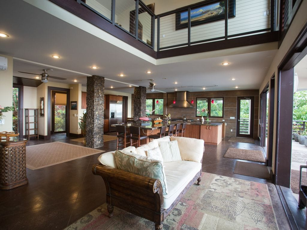 a large open plan living space