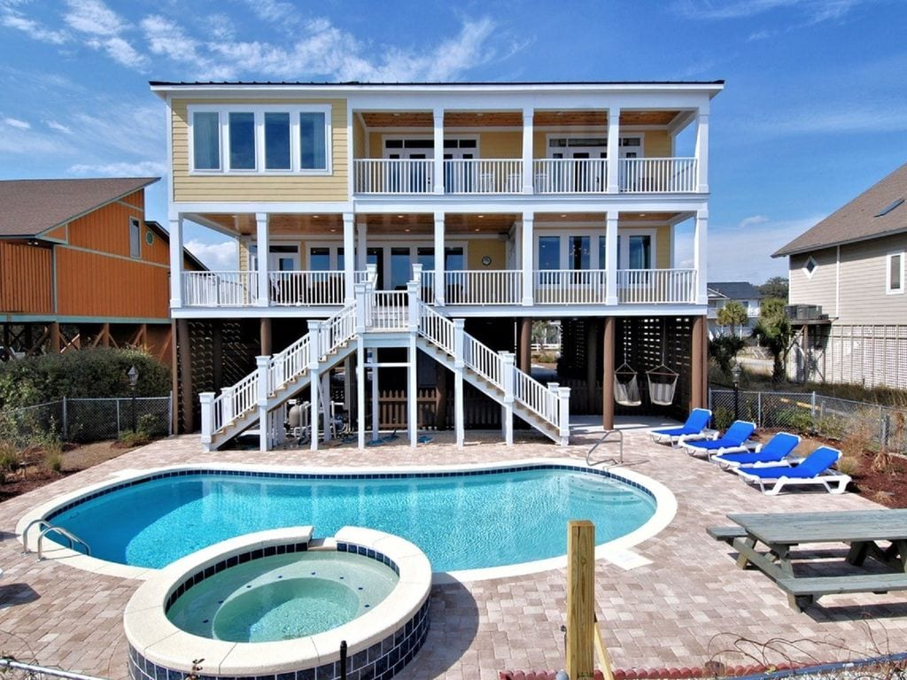 A vrbo in myrtle beach with swimming pool and jacuzzi