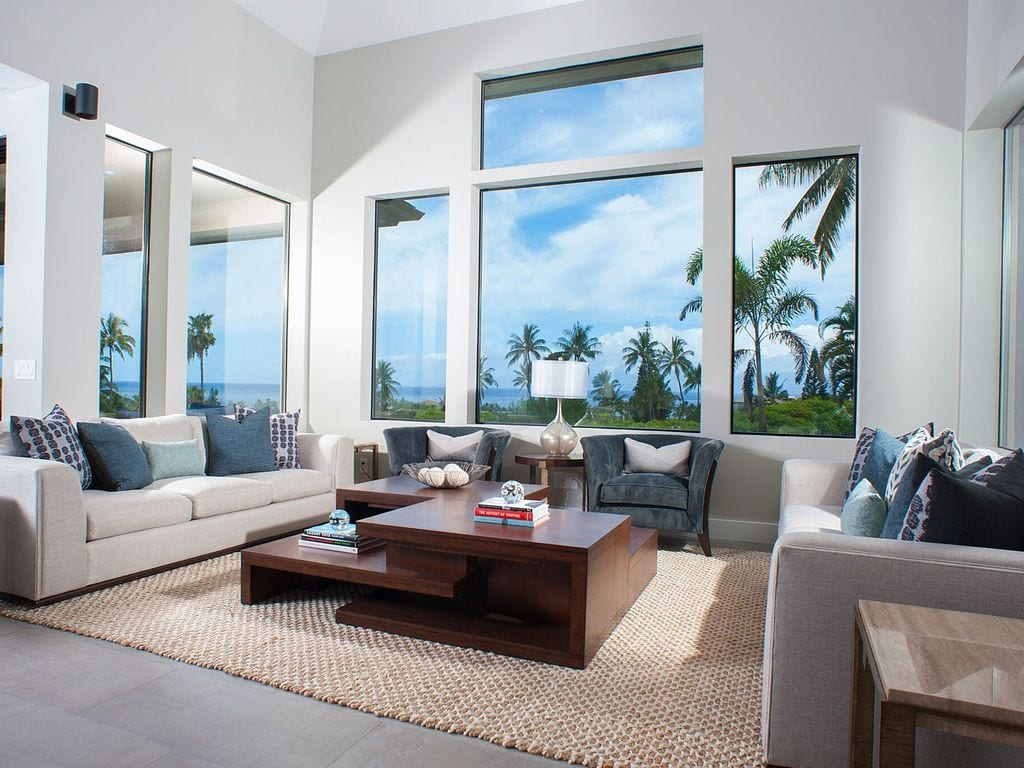 chill living area in a Hawaii home