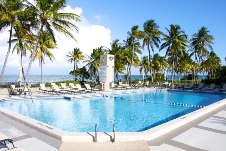 casual VRBO luxury in Miami: poolside