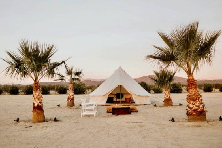 airbnb HGTV featured The Castle House Yurt Joshua Tree