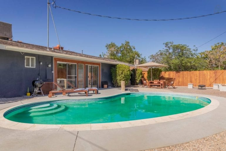 joshua tree airbnb home with inground pool