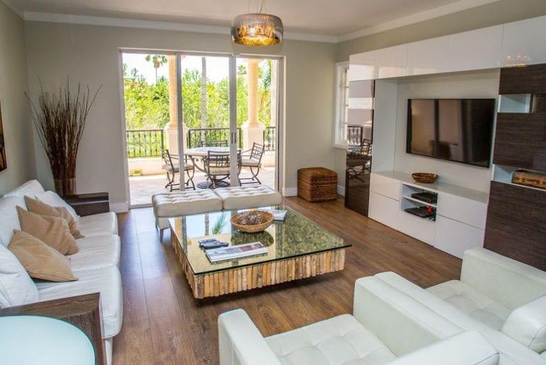 a great wooden floor living area