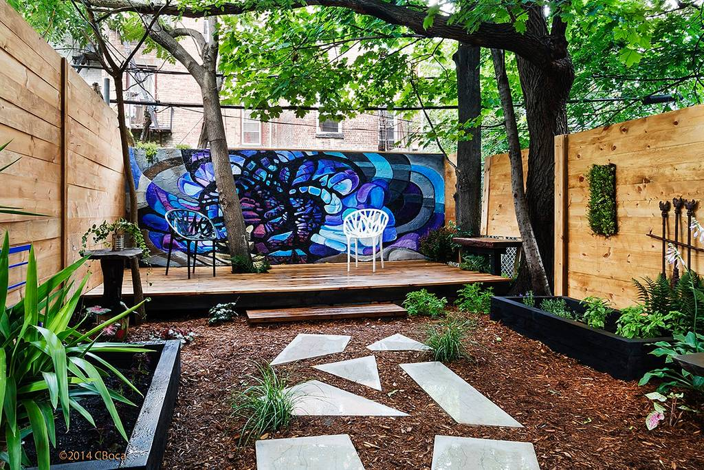 cool urban garden apartment in bushwick