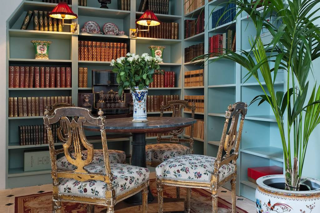 opulent parisian apartment with its own library