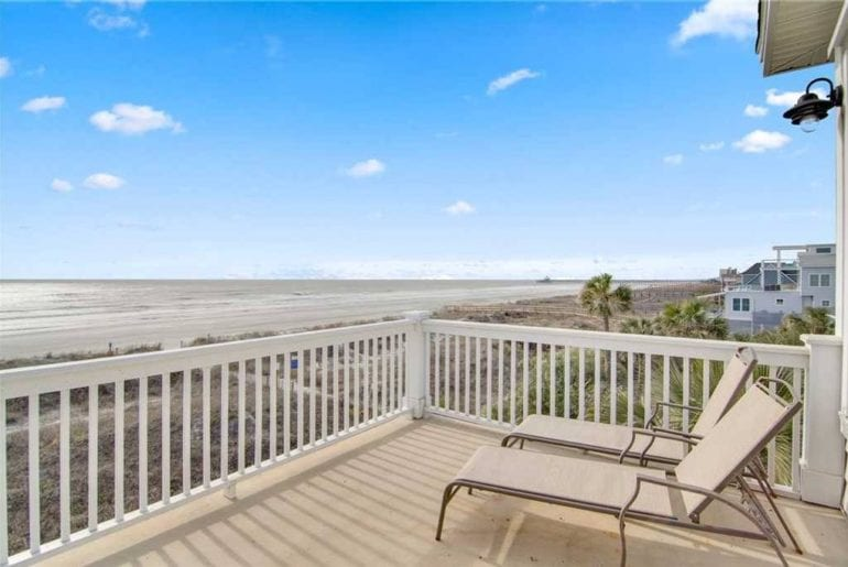 a charleston sc sea view deck!