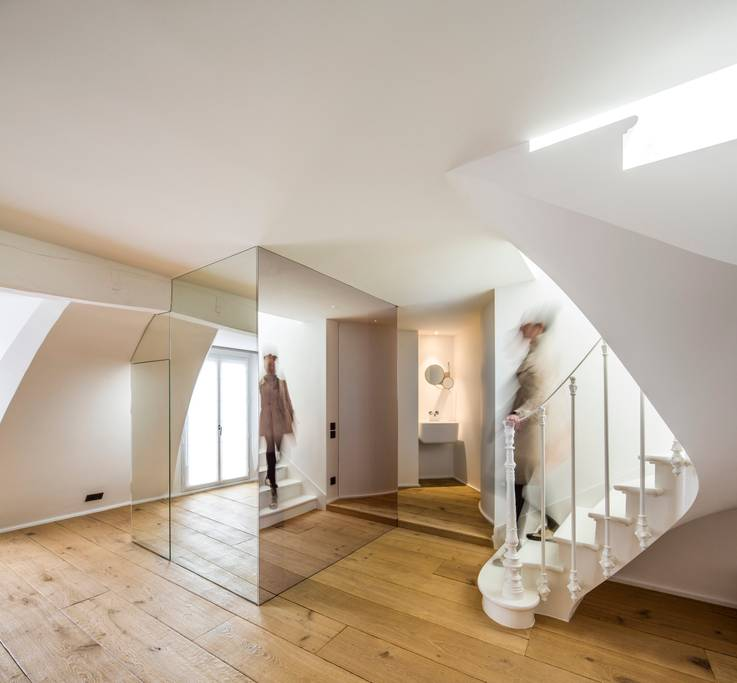 a Paris home with mirrors