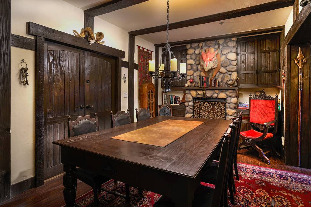medieval style airbnb home in los angeles