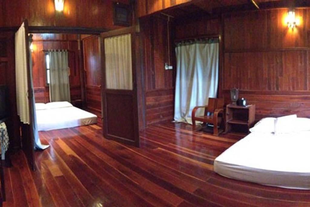 wooden bangkok airbnb home near transportation