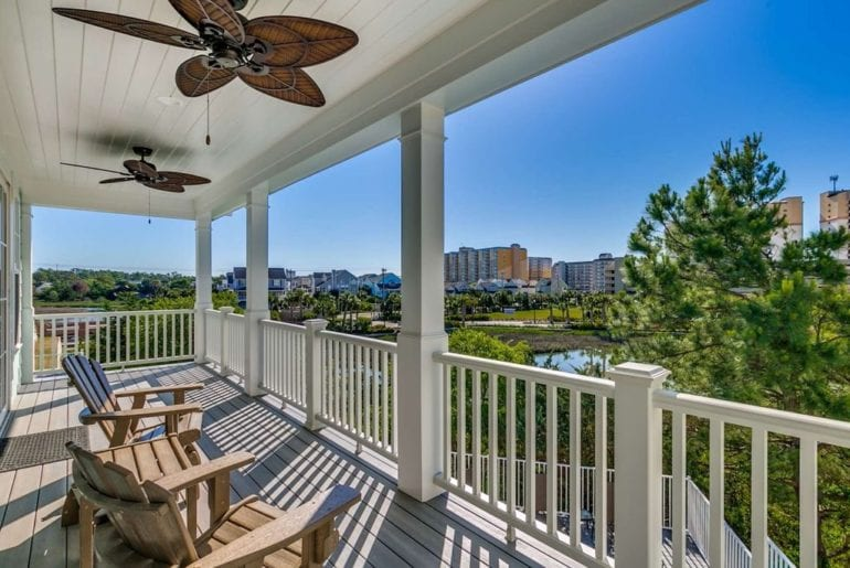 a sunny porch in Myrtle beach