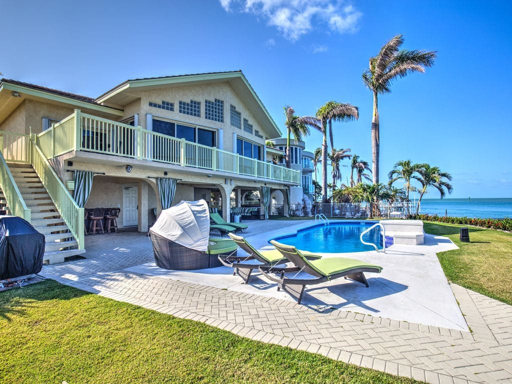 airbnb oceanfront estate home in key colony beach
