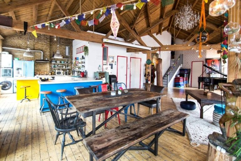 huge open loft with piano airbnb shoreditch london